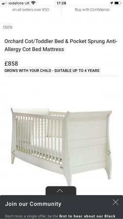 Image 1 of Mamas & Papas 'Orchard' Cotbed and Wardrobe