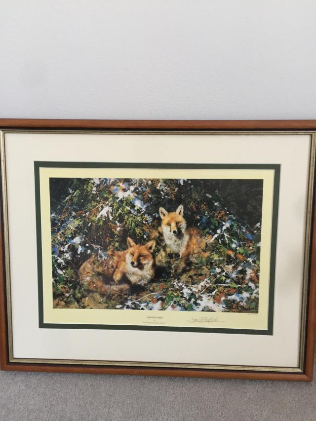 Preview of the first image of Winter Foxes by David Shepherd signed limited edition.