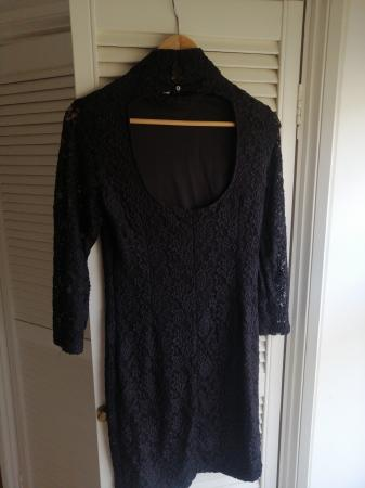 Image 3 of black embroidered dress