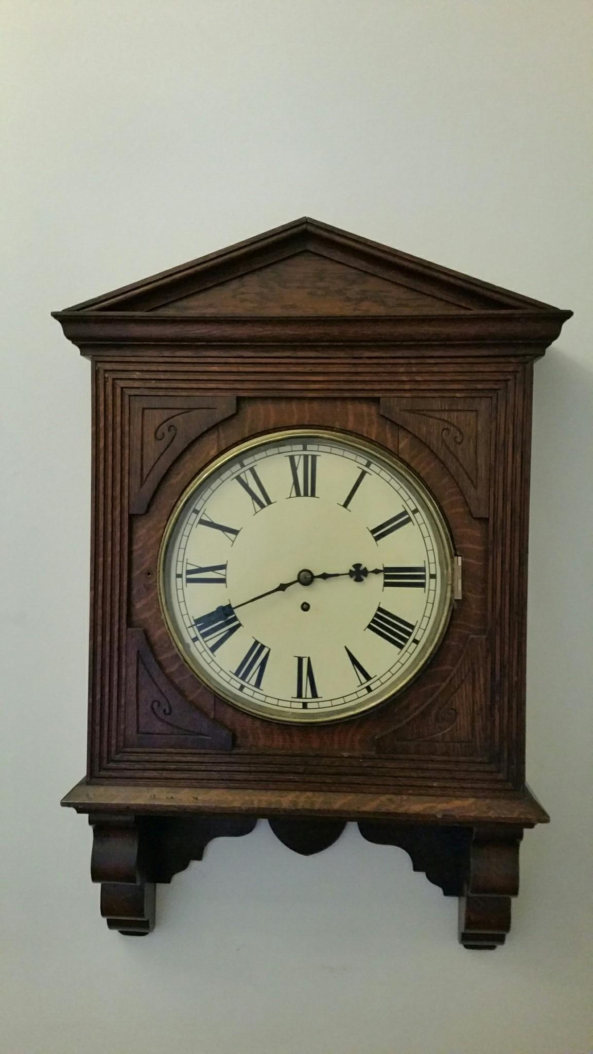 Antique Fusee Wall Clock For Sale In Nottingham Nottinghamshire