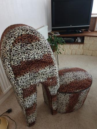 Image 3 of Leopard Print Stelletoe Chair