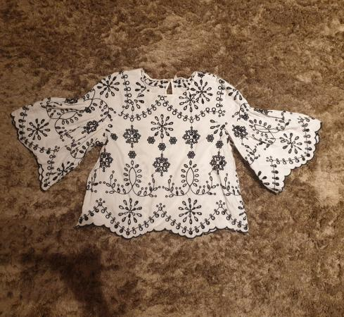 Image 2 of Zara embroidered blouse size S