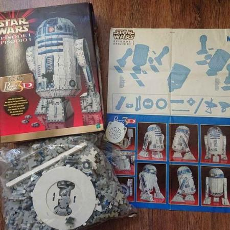 Image 2 of Amazing R2-D2 three-dimensional Puzz3d jigsaw 100% complete