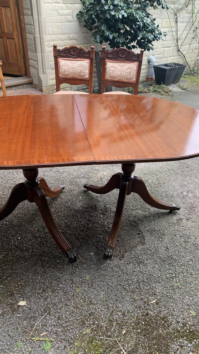 Preview of the first image of Vintage wooden folding table.