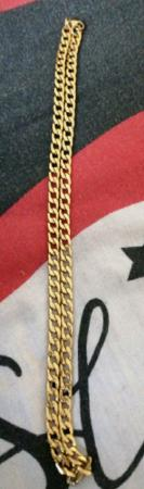Image 1 of 1 mens 8mm 24 inch gold plated chain