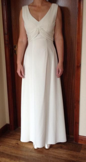 eb26ffab34c The veil really makes this into the wedding dress (included in the price)!  Worn once. Immaculate condition. Hand-washable