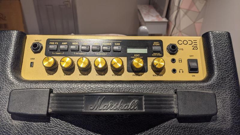 Image 3 of Marshall Code 25 with Foot Switch and dust cover.
