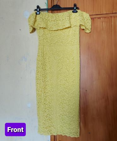 Image 2 of Yellow Floral Lace Midi Dress - Brand New