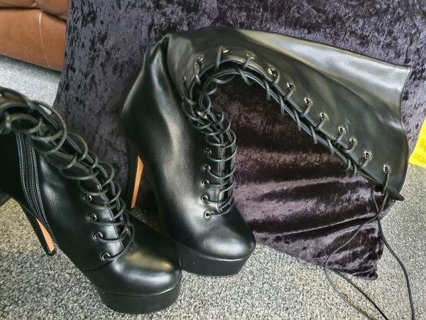 Image 2 of only Maker platform Lace up boots (brand new)
