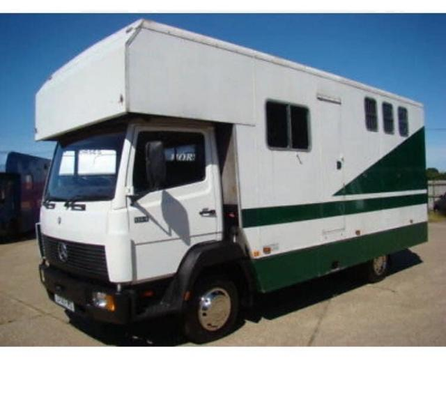 Preview of the first image of Mercedes 8143 7.5 ton horse box.