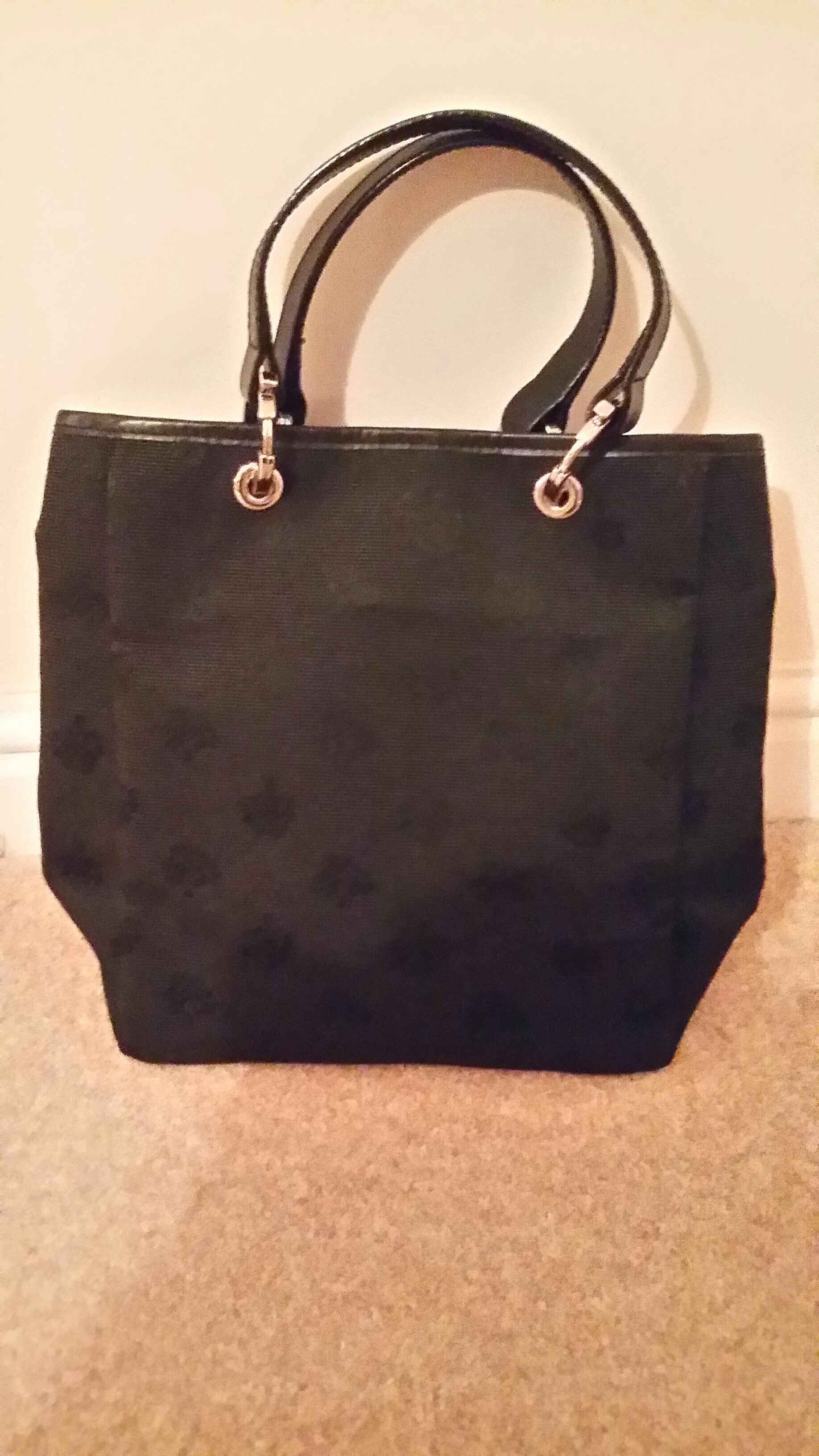 e617d543b ... france 100 authentic mulberry logo fabric small tote bag bought from  shepton mallet factory shop about