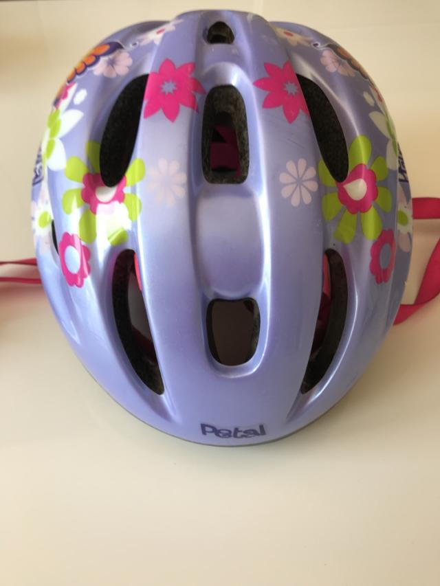 Preview of the first image of Girls Apollo petal small helmet  50cm to 56cm.