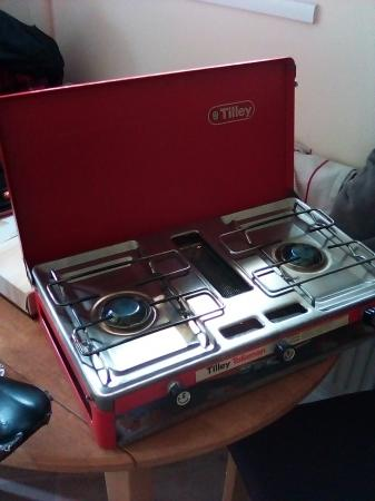 Image 2 of camping stove 2 ring burner Tilley talisman