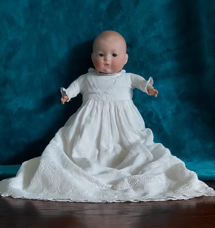 Image 1 of Antique bisque headed doll.