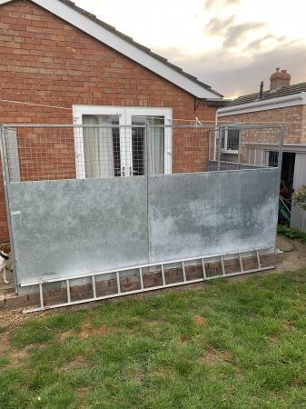 Image 2 of Galvanised steel dog run panels