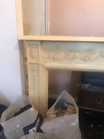 Image 3 of Marble fireplace surround.
