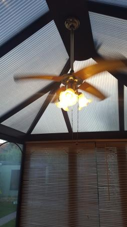 Image 3 of conservatory roof fan and light fitting