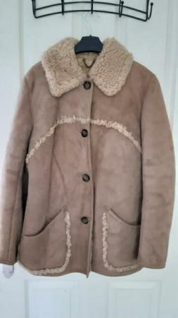 Image 1 of Real Sheepskin Coat