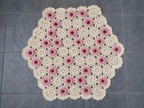 Image 2 of New Handmade Floral Blanket Throw Sofa Home Decor Crocheted