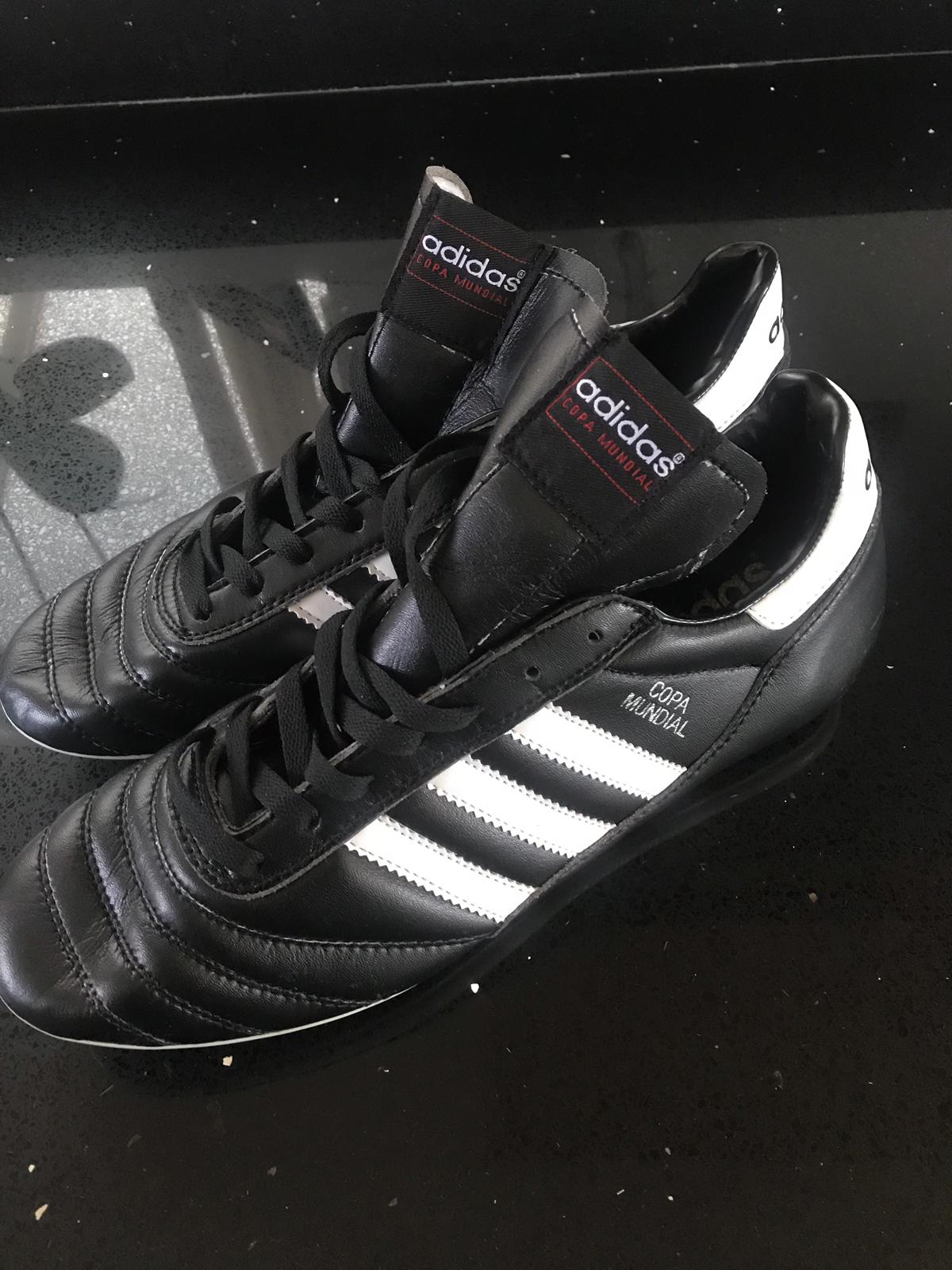 142b067998e ... get brandnew adidas copa mundial in size 9.5 in black white as tag  packaging from pet