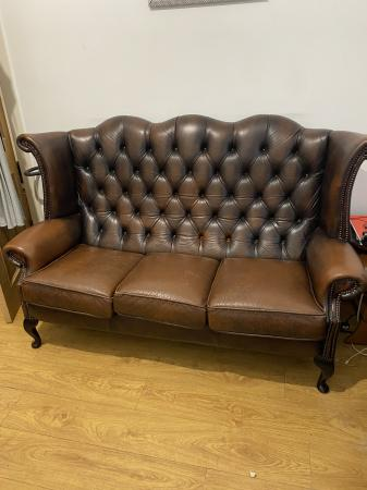 Image 1 of Queen Anne chesterfield Armchair