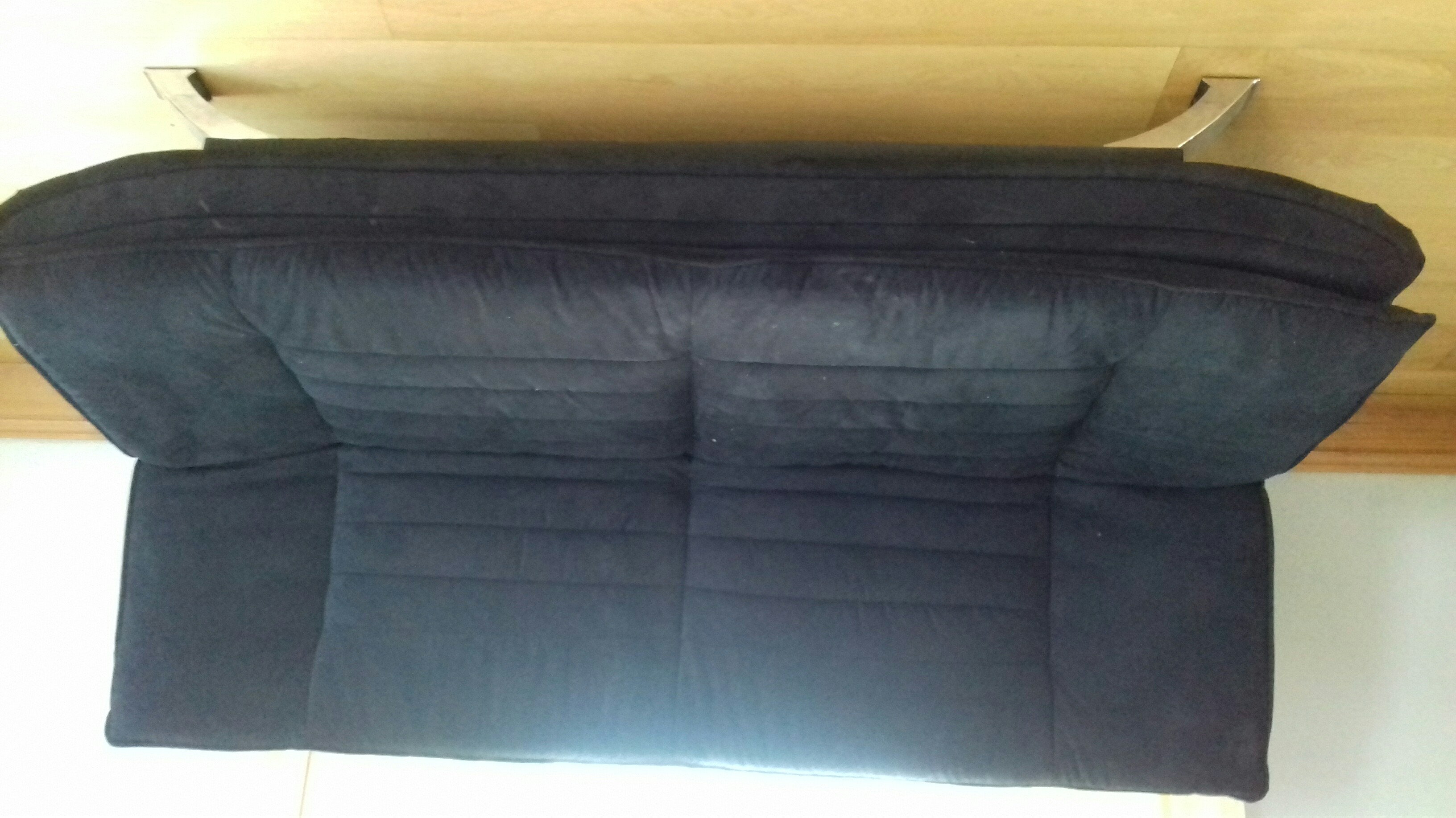 3 Seater Futon Sofa Bed In Black Great Condition.