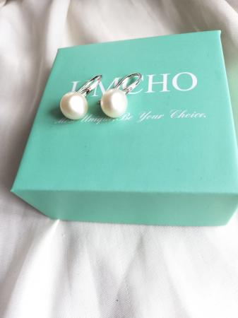 Image 2 of Natural Freshwater Pearl Earrings for Women, Girls. White