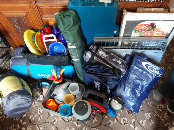 Image 2 of camping equipment ready to go grab a bundle.