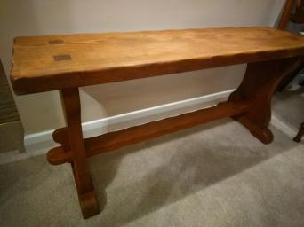 Antique Vintage Pine Kitchen Bench Hall Seat Pew