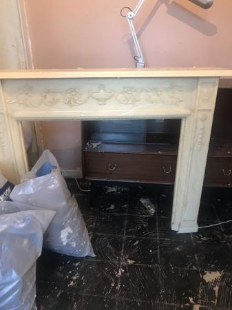 Image 2 of Marble fireplace surround.