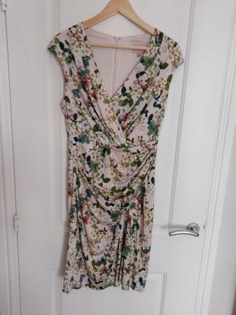 Image 1 of Phase 8 Cap sleeve floral dress. Size 14