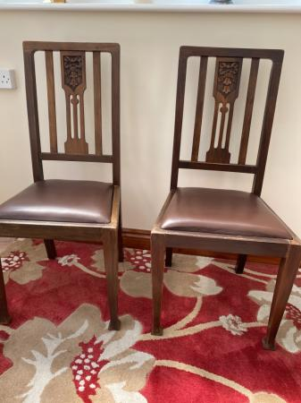 Image 1 of 4 Antique dining chairs
