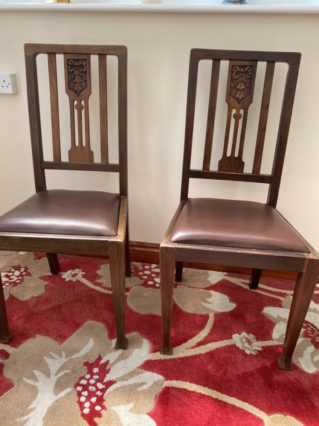 Preview of the first image of 4 Antique dining chairs.