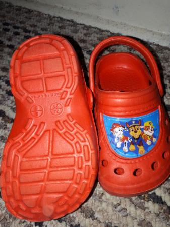 Image 2 of brand new red paw Patrol Crocs size 5 to 6 infants sizes