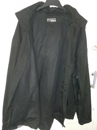 Image 1 of 3XL Black Dunlop Hooded Rain Jacket