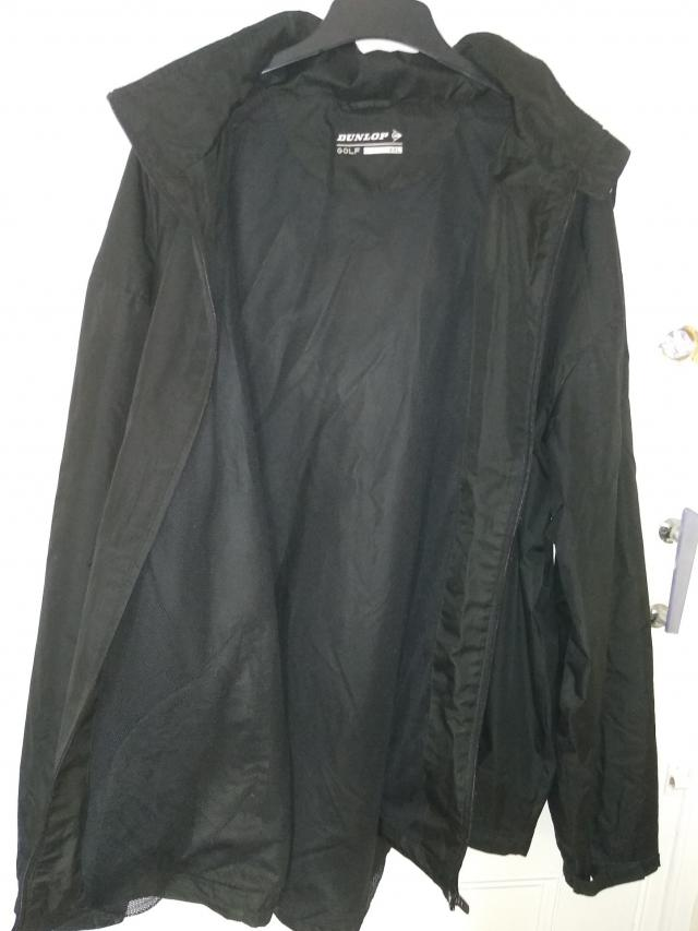 Preview of the first image of 3XL Black Dunlop Hooded Rain Jacket.