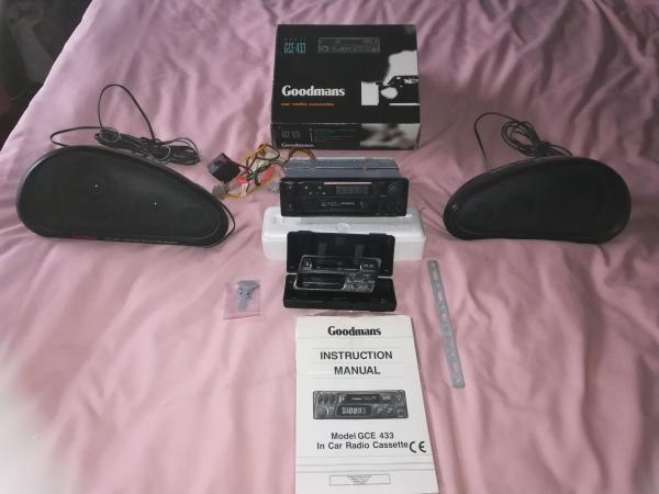 Image 1 of goodmans car radio cassette player