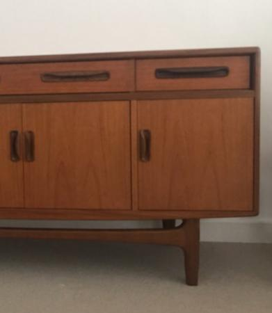 Image 3 of G Plan Fresco sideboard with four doors & four drawers.