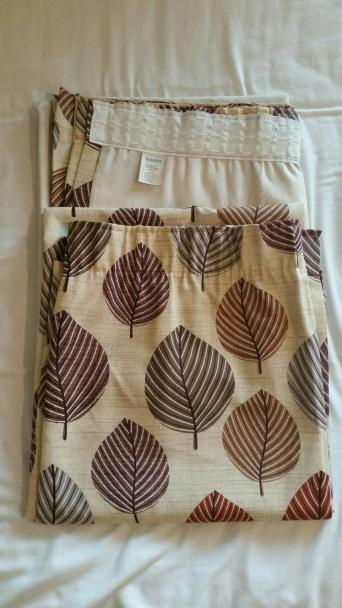 "Regan Curtains from Dunelm Mill Width 66"" Drop 72"" Terracotta Lined Pencil pleat (tape not pulled) Excellent condition with no sun damage Non smoking pet ..."