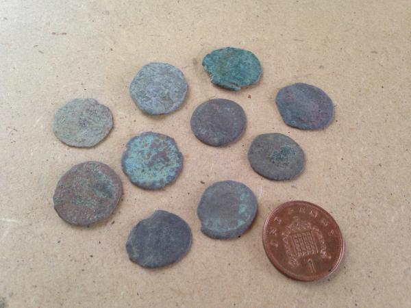 10 Ancient Roman Coins