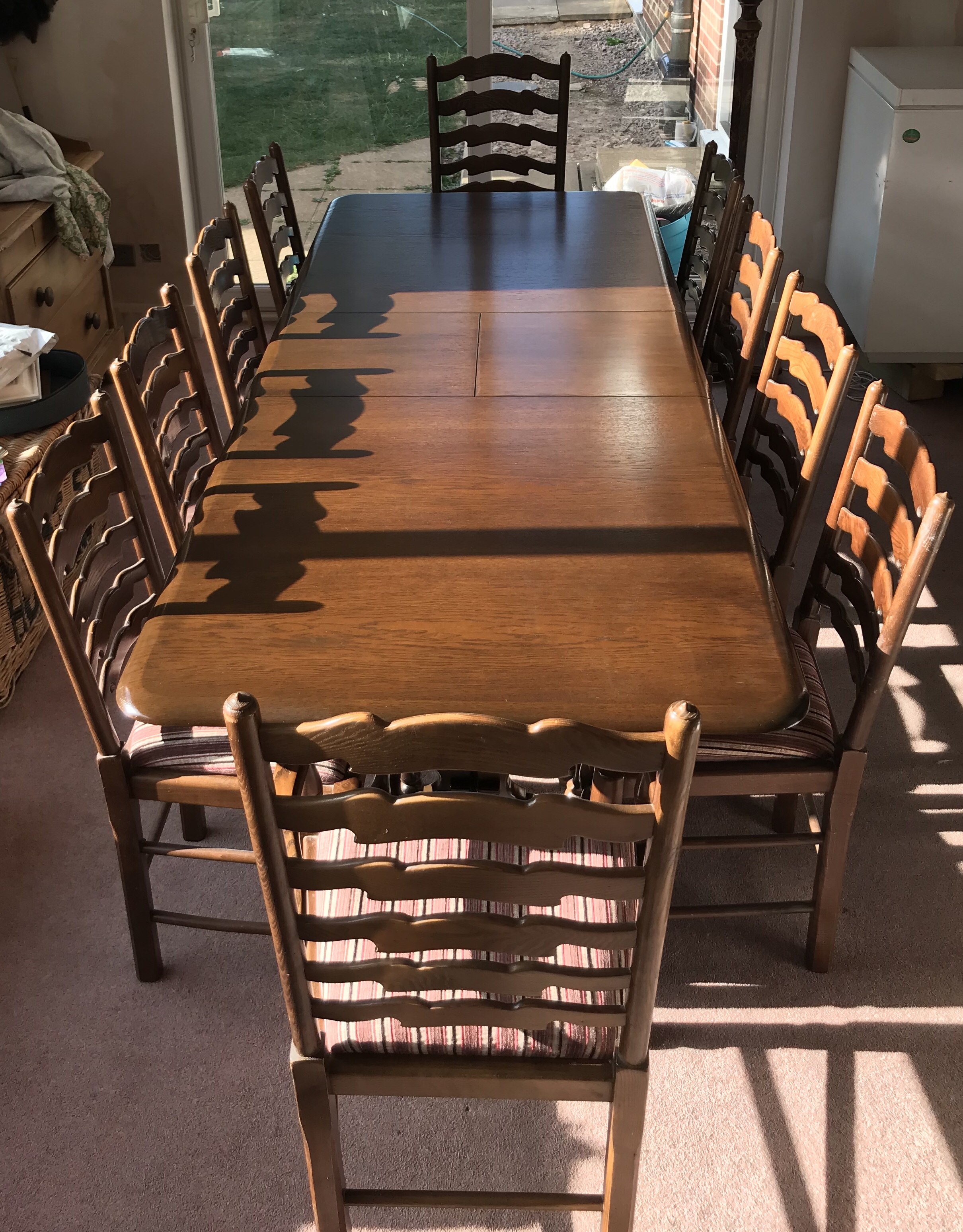 Priory Dark Oak 10 Seater Dining Table For Sale In Great Glen