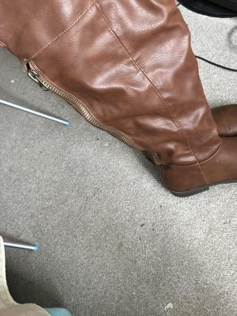 5a5b59b53b8 Brown knee high boots size 6 only worn once as to small. Almost looks new.  Bought for 25.00