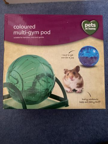 Preview of the first image of Hamster, gerbil, mice multi exercise gym ball.