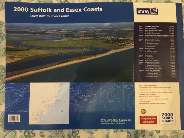 Imray 2000 Suffolk And Essex Chart Pack 2015 Edition For Sale In