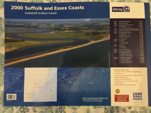 Preview of the first image of Imray 2015 Suffolk + Essex Chart pack + Reeds Almanac 2016.