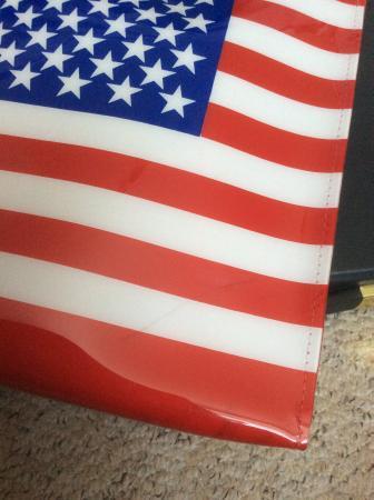Image 3 of American flag plastic tote bag