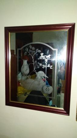 Image 1 of DECORATIVE ETCHED WALL MIRROR