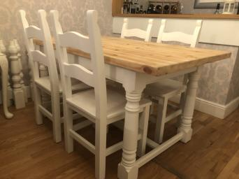 shabby chic dining table chairs - Second Hand Household Furniture ...