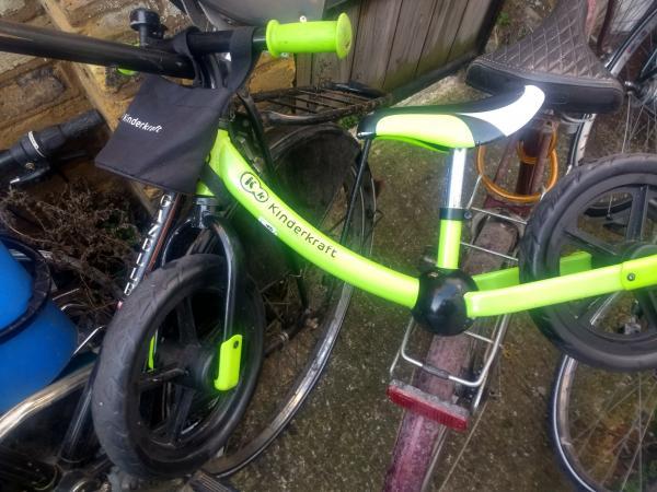 Image 1 of Balance Toddler bike bag on front for toys / drink etc