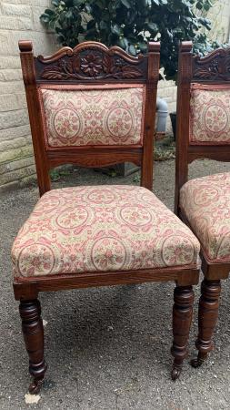 Image 1 of Antique wooden chairs x 6